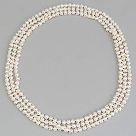 A cultured pearl necklace, tiffany & co