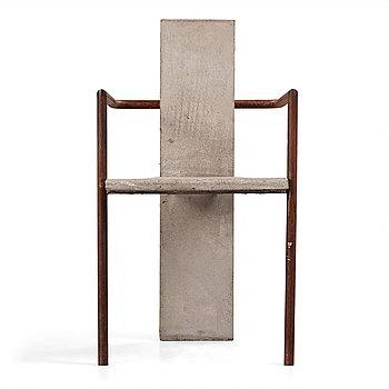 8. JONAS BOHLIN, a 'Concrete' armchair, Källemo, Värnamo, Sweden 1981.