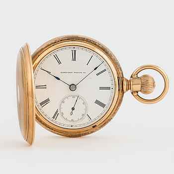 HAMPDEN WATCH CO, pocket watch, 54,5 mm, hunting case,