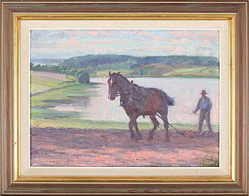 ALEXANDER LANGLET, olja på duk, signerad och daterad 1919.