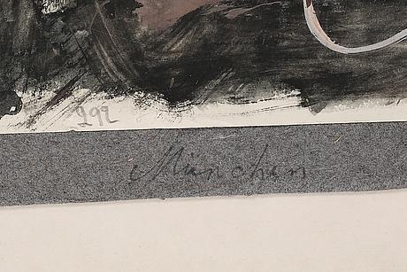 Sven x:et erixson, akvarell, ej signerad
