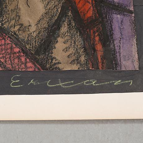 Sven x:et erixson, blandteknik, signerad och daterad 1921