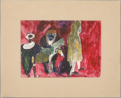 Sven x:et erixson, akvarell, signerad  och daterad 1935