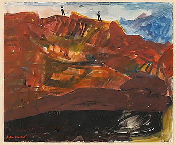 SVEN X:ET ERIXSON, watercolour, signed.