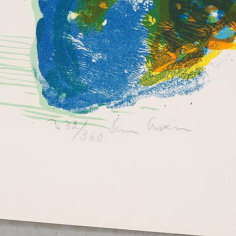 Sven x:et erixson, 5 st, färglitografier, signerade och numrerade
