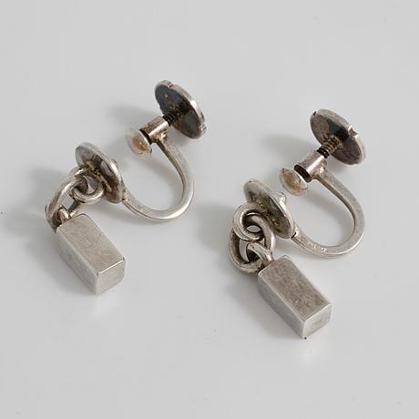 Wiwen nilsson, lund, 1956, a pair of earrings