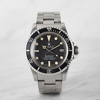"67. ROLEX, Oyster Perpetual Date, Sea-Dweller, (2000ft=610m, Swiss-T<25, ""Great White Mark IV""), Chronometer."