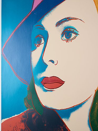 "Andy warhol, ""with hat""; from: ""ingrid bergman""."