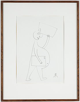 ROGER RISBERG, indian ink on paper, 2006, signed RR with monogram.