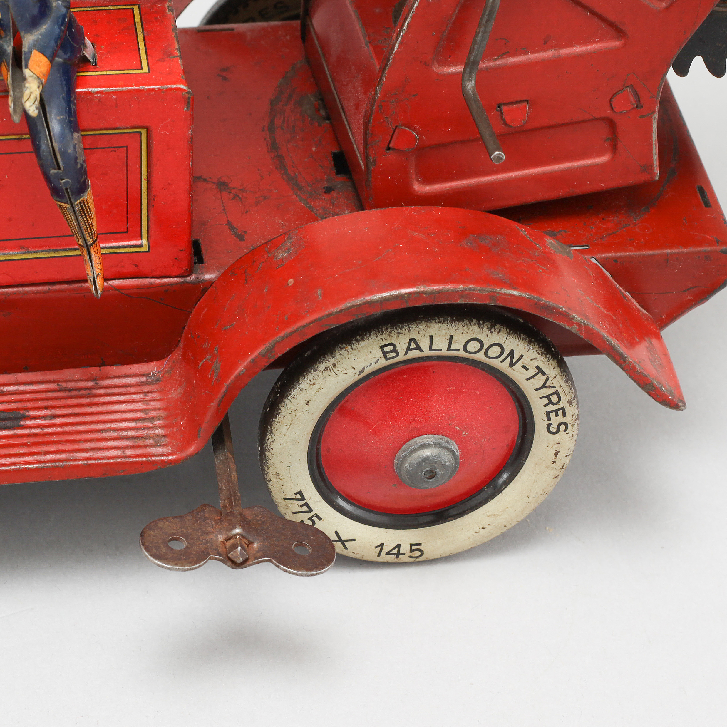 A 1930s Distler toy fire truck, Germany  - Bukowskis