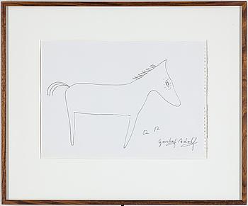 ROGER RISBERG, indian ink on paper, 2005, signed RR.