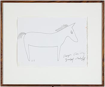 ROGER RISBERG, indian ink on paper, 2005, signed Roger Risberg.