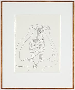 ROGER RISBERG, indian ink on paper, 1999, signed RR.