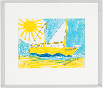 ROGER RISBERG, pastel and pencil on paper, signed Roger Risberg with monogram and dated 1991.
