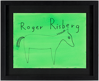 ROGER RISBERG, gouache and indian ink on paper, signed Roger Risberg.