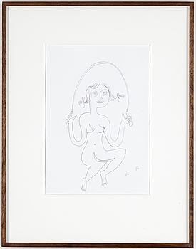 ROGER RISBERG, ROGER RISBERG, indian ink on paper, 2000, signed RR.