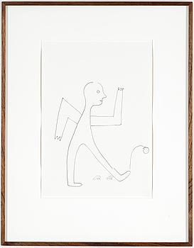 ROGER RISBERG, indian ink on paper, 2007, signed RR.