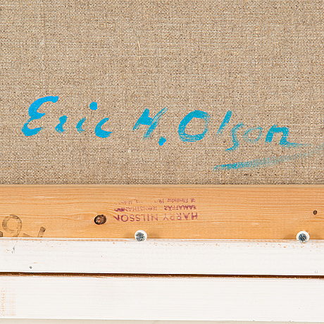 Eric h olson, acrylic on canvas, signed on verso