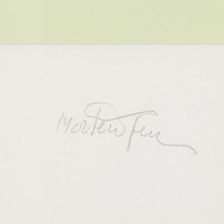 Richard mortensen, collage, signed, dated 28-ii-91.
