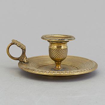 NATTLJUSSTAKE, brons, empire, 1800-talets början.