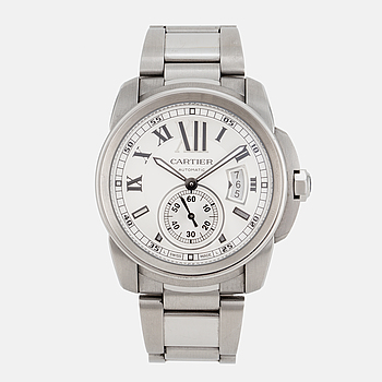 CARTIER, Calibre de Cartier, armbandsur, 42 mm,