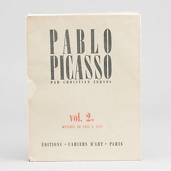 """BOK, Christian Zervos,  """"Pablo Picasso vol 2. Oeuvres de 1906-1912"""", Edition Cahier d'Art, Paris 1967."""