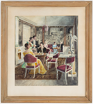 RUDOLF CARLBORG, RUDOLF CARLBORG, Watercolour, signed R. Carlborg and dated 1952.