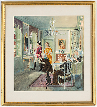 RUDOLF CARLBORG, RUDOLF CARLBORG, Watercolour, signed R. Carlborg and dated 1950.