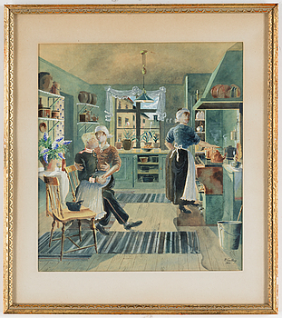RUDOLF CARLBORG, RUDOLF CARLBORG, Watercolour, signed R. Carlborg and dated 1946.
