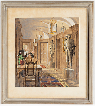 RUDOLF CARLBORG, RUDOLF CARLBORG, watercolour, signed R. Carlborg and dated 1947.