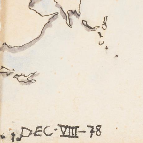 Ulf rahmberg, blandteknik, monogramsignerad och daterad dec viii -78.
