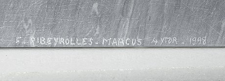 Francoise ribeyrolles-marcus, francoise ribeyrolles-marcus, bardiglio marble,  signed f. ribeyrolles-marcus and dated 1998.
