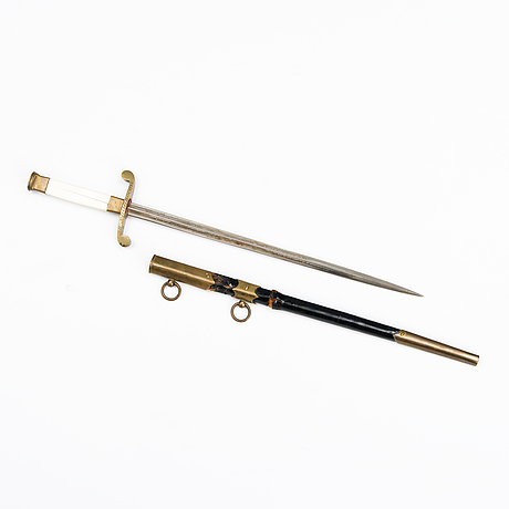 A russian naval officer's dagger with order of st anne, model 1855.