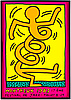 A keith haring, after, poster montreux 1983 jazz festival, sined in print