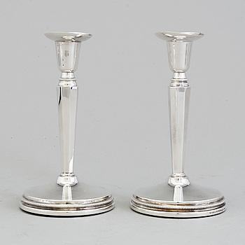 ERIC LÖFMAN, ljusstakar, ett par, silver, MEMA, 1989.