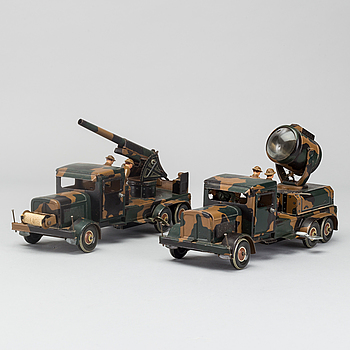 TWO TIPP & CO MILITARY   VEHICLE FROM 1935-42 GERMANY.