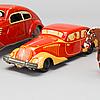 "Mekaniska leksaker, 3 st, bland annat ""arabian"" robert rühl 1950-tal."
