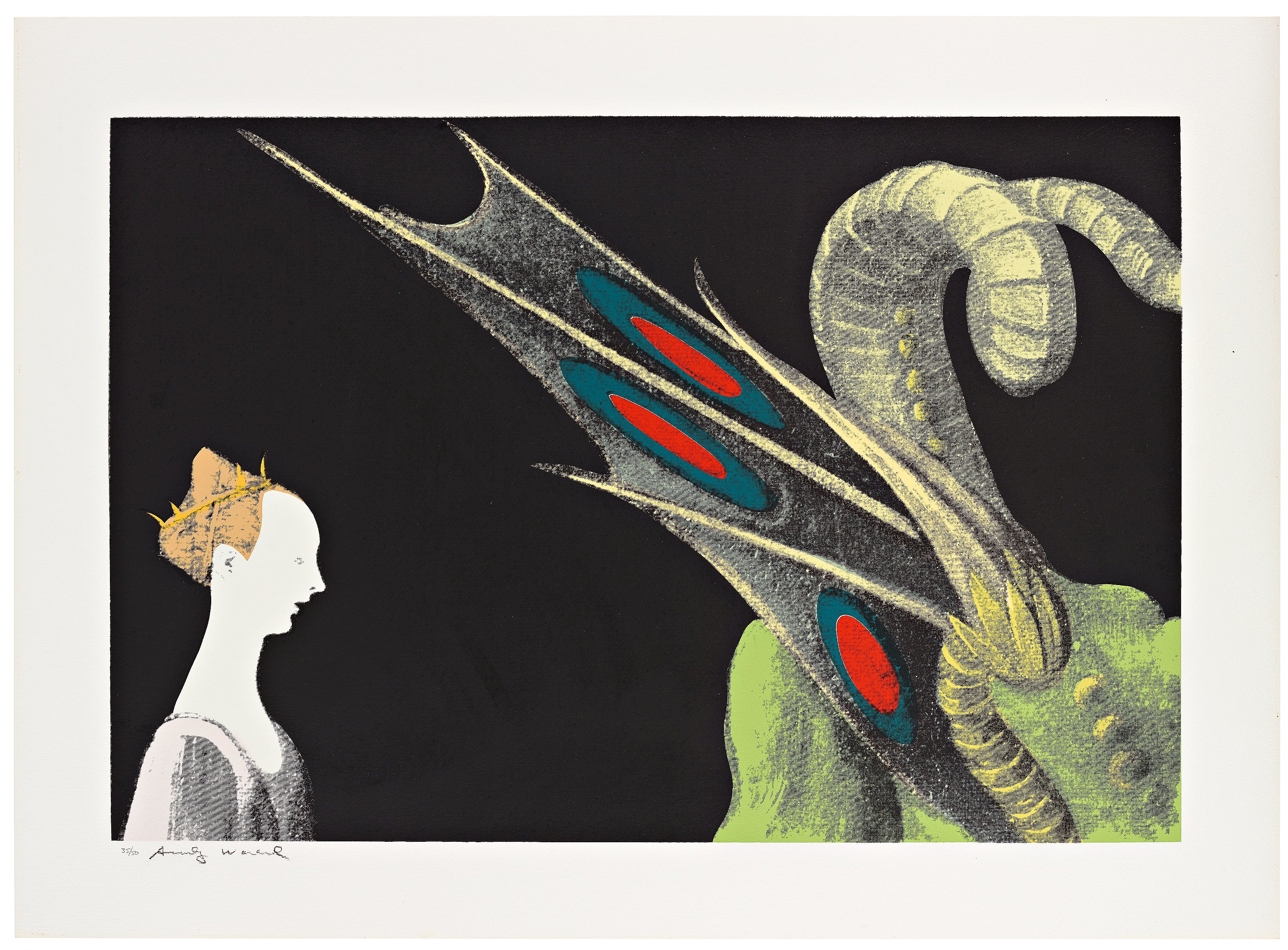 Andy Warhol Paolo Uccello St George And The Dragon From