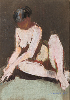 pastel, signed and dated 1976.