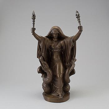 JOHAN TOBIAS SERGEL, efter, skulptur, brons, 1900-tal.