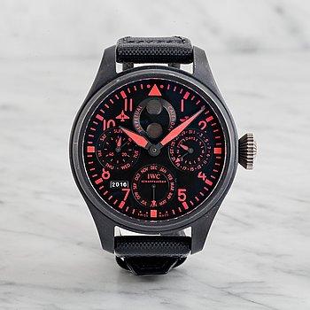 """19. IWC, Schaffhausen, Big Pilot Perpetual Calendar, """"Top Gun"""", Boutique Edition, wristwatch, 48 mm,"""