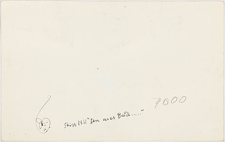 Ulf rahmberg, tuschteckning, signerad med monogram a tergo.
