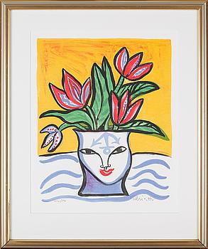 ULRICA HYDMAN-VALLIEN, färglitografi, signerad och numrerad 252/290.