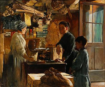 OSCAR BJÖRCK, OSCAR BJÖRCK, oil on double canvas, signed.