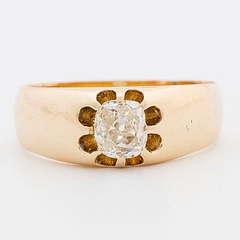 RING, gammalslipad diamant.