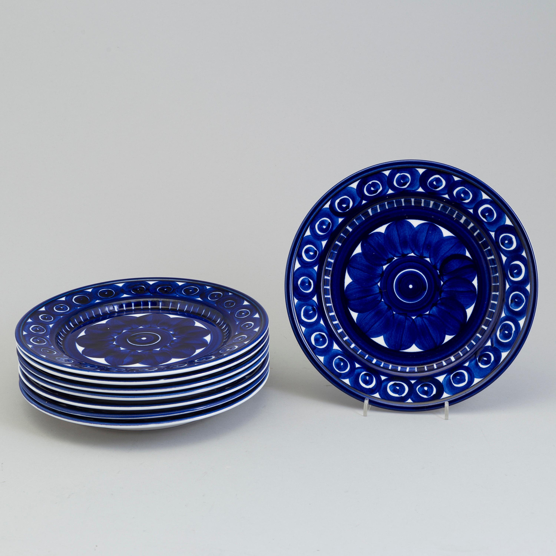 ULLA PROCOPÉ Eight Ulla Procopé porcelain plates \u0027Valencia\u0027 for Arabia Finland - Bukowskis & ULLA PROCOPÉ Eight Ulla Procopé porcelain plates \u0027Valencia\u0027 for ...