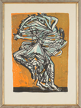 AXEL SALTO, lithograph in colours, signed 113/260.