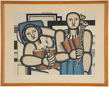 FERNAND LÉGER, FERNAND LÉGER, Lithograph in colours, 1953, on arches paper, signed in pencil and numbered 34/350, after Fernand Léger.