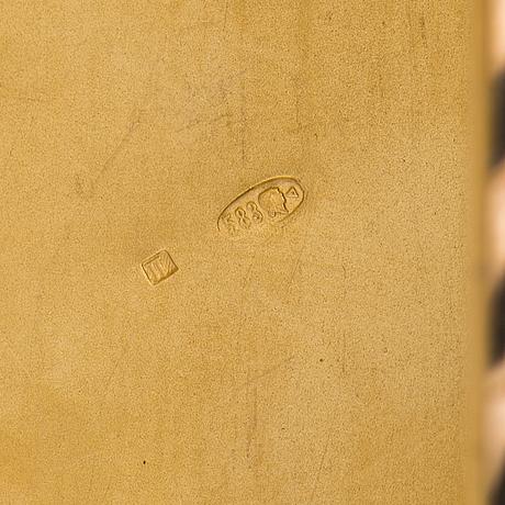 Etui, 14k guld. e. morozov, st petersburg, tidigt 1900 tal