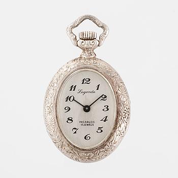 LAGONDA, ur med kedja, 25 x 30 (42) mm.